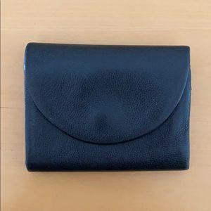 Kate Spade Saturday black leather half moon wallet